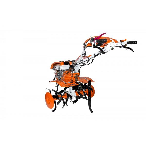 Motosapatoare RURIS 732ACC + roti cauciuc 5.00-8 + rarita + plug + adaptor + dispozitiv scos cartofi + roti metalice 400 fara manicot + cultivator