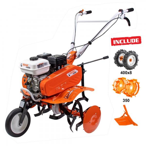 Motosapa DAC 7000ACC1 + roti cauciuc 4.00-8 + rarita ajustabila + roti metalice 350 fara manicot