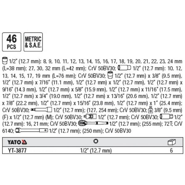 Trusa scule YT-3877